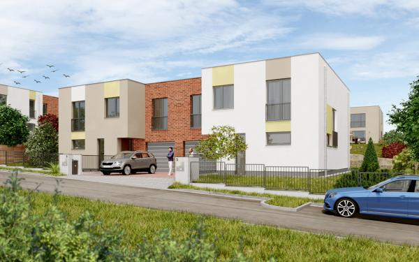 Projekt Slunné Želešice - pohled na dům z ulice